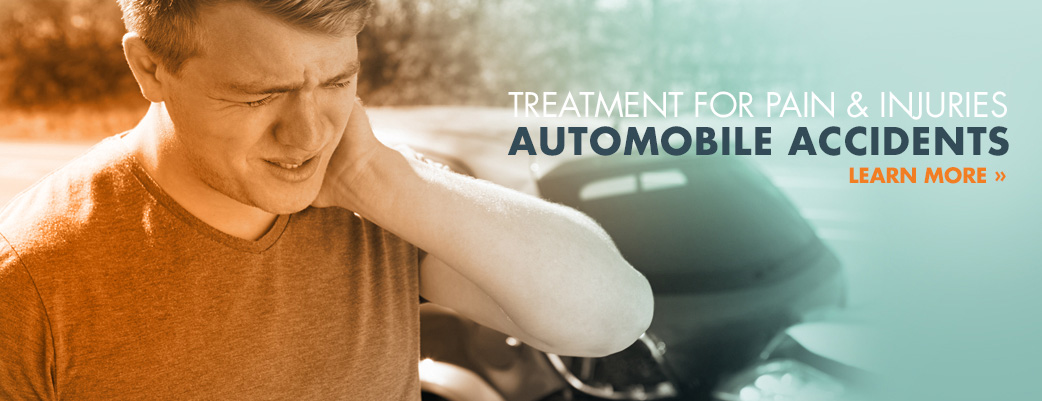 Treatment for pain and injuries from auto accidents.