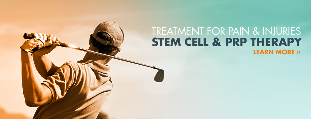 Treatment for pain and injuries, stem cell and PRP therapy