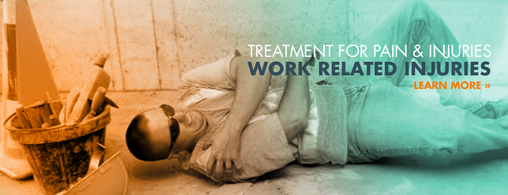 Treatment for pain and injuries from work related accidents.